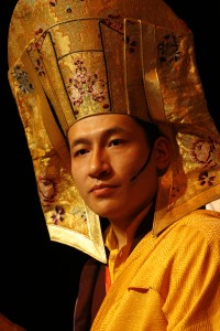 17th Karmapa Thaye Dorje wearing Gampopa hat