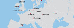 Cheap flights to the Europe Center!